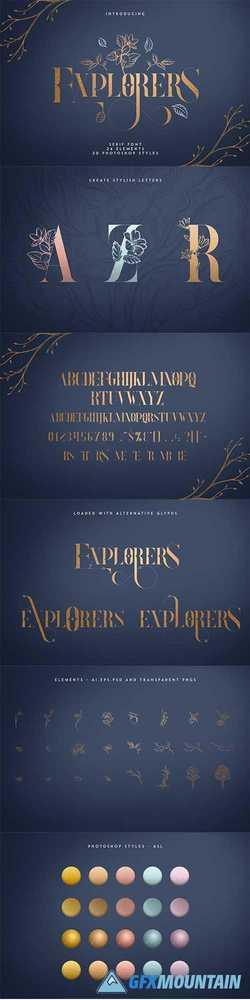 Explorers - Serif font + Extras 3790332 » Free Download Graphics