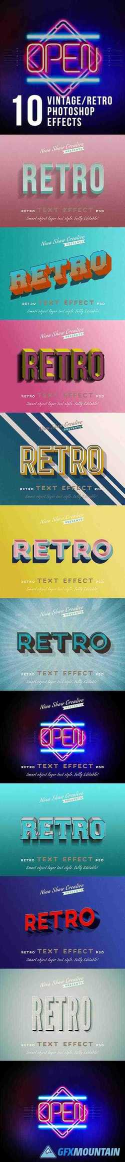 RETRO VINTAGE TEXT EFFECTS - 23825859