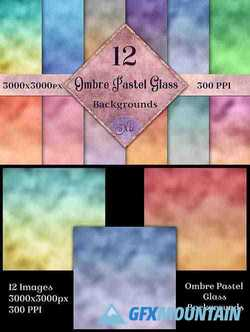 Ombre Pastel Glass Backgrounds