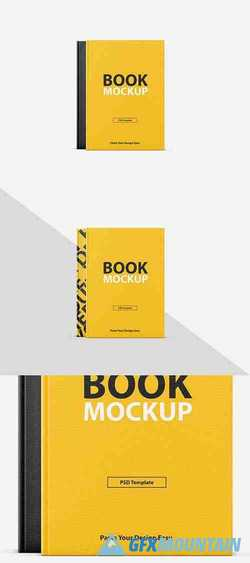 Textured Book Cover Mockup 257928192