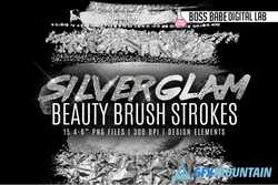Silver Glam Beauty Brush Strokes 1500593