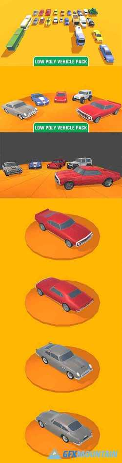 Low Poly Vehicle Pack Low-poly 3D model