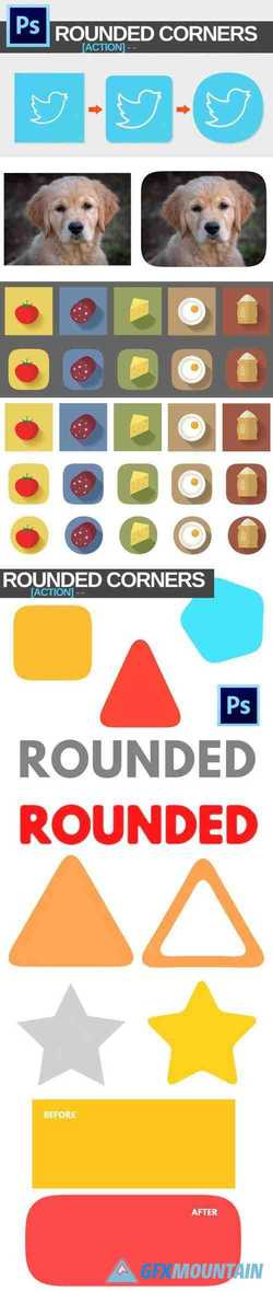 Rounded Corners Action for Photoshop