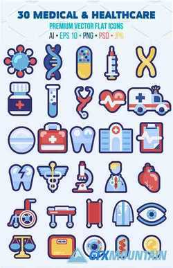 30 Medical Flat Icons Good for Logo 2354116