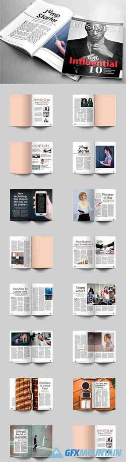 32 Page Business Magazine Template 1594886
