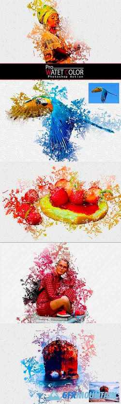 Pro Water Color Photoshop Action