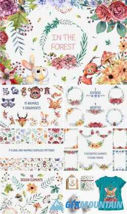 WATERCOLOR ANIMALS SET - 258780