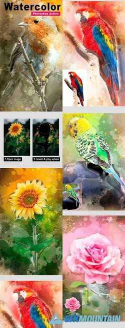 Watercolor Art Photoshop Action Vol 3 24048786