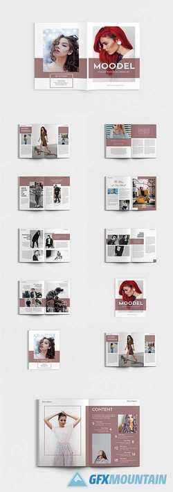 Modela - A4 Magazine Model Brochure Template 3958812