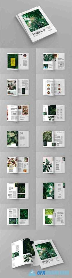 Garden And Leaves Magazine Template 3962766