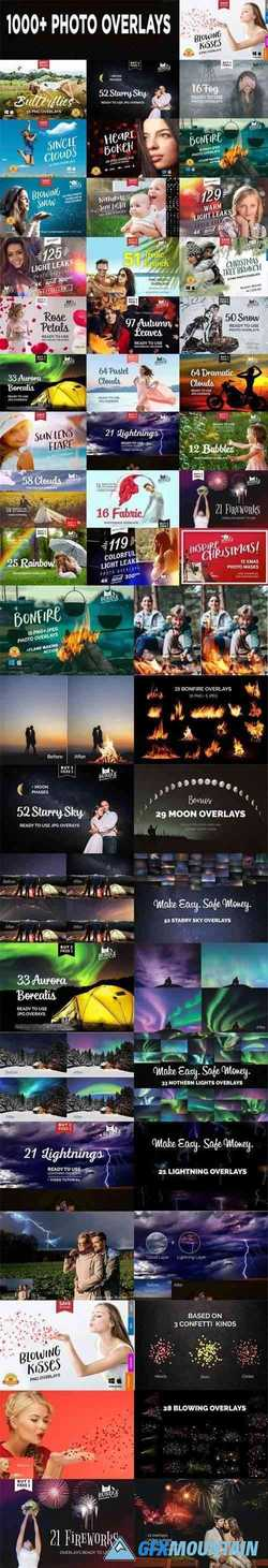 1000+ Photo Overlays, Bonfire Overlays, Starry Sky, Аurora Borealis Overlays, Butterfly, Fabric Overlays + More