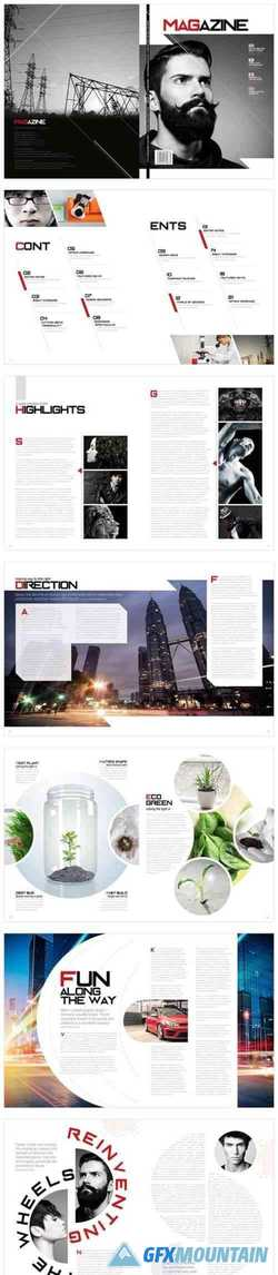Magazine Template InDesign 1666763