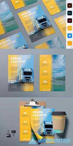 Trucking Logistics Flyer 3987153