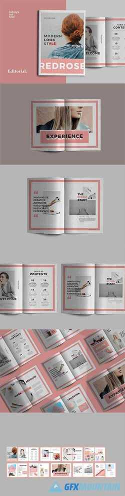 Red Pastel Indesign Brochure