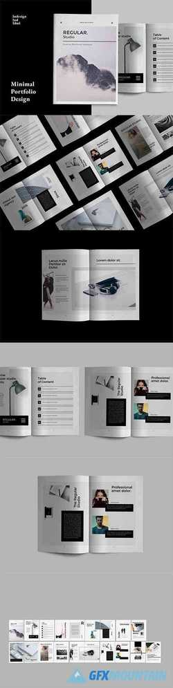 Regular Indesign Portfolio Design