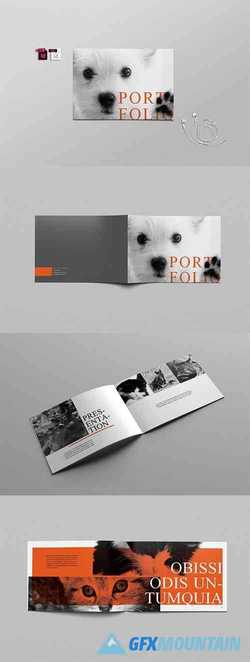 A4 Catalog Horizontal Indesign Template