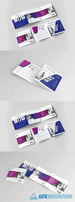 Square Trifold Indesign Brochure