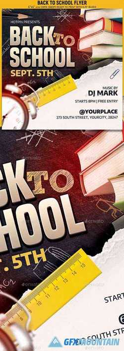 Back To School Party Flyer 24278841