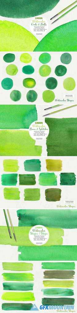 Green Watercolor Pack