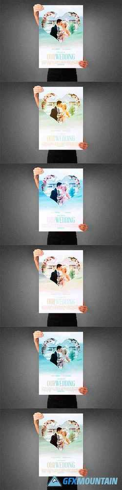 Our Wedding Movie Poster Template 3990134