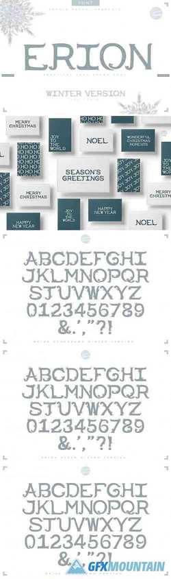 ERION FONT + Christmas Winter Version