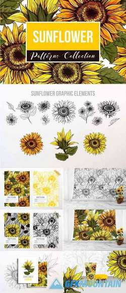 SUNFLOWER PATTERNS COLLECTION - 3993596