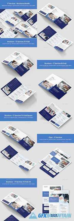 IT Services – Brochures Bundle Print Templates 5 in 1 24335247