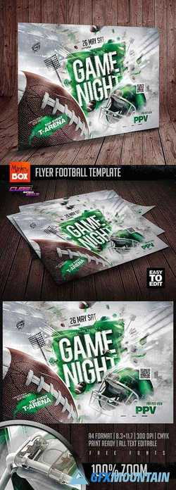 Flyer Football Template 24298984