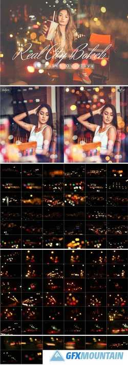 80 REAL CITY BOKEH LIGHTS EFFECT PHOTO OVERLAYS - 313838