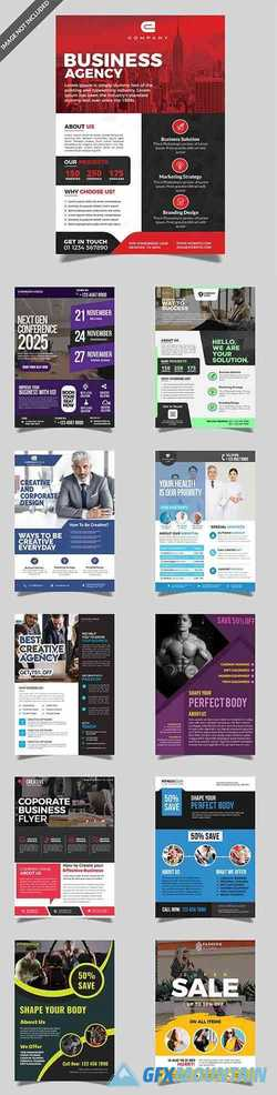 Fitness and Business Flyers PSD Pack