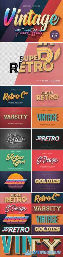 VINTAGE TEXT EFFECTS VOL.7 - 3983124