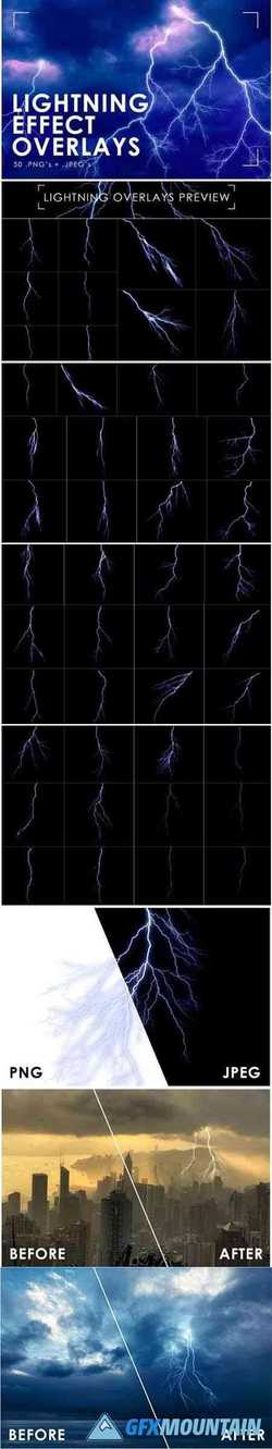 Lightning Effect Overlays Lightning 1736922