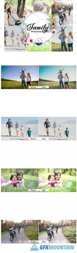 35 Family Photoshop Actions 3937411