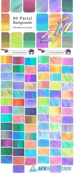 80 PASTEL BACKGROUNDS - 2301261