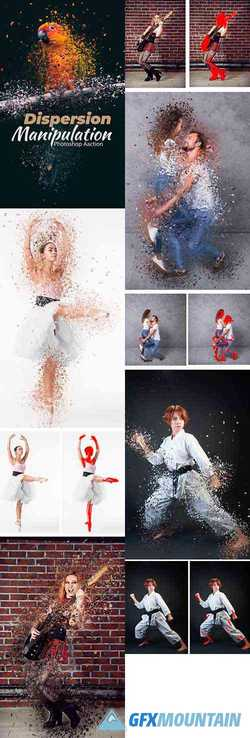 Dispersion Manipulation Photoshop Action 24297881