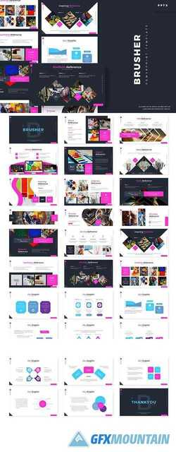 Brusher - Powerpoint, Keynote and Google Slides Templates
