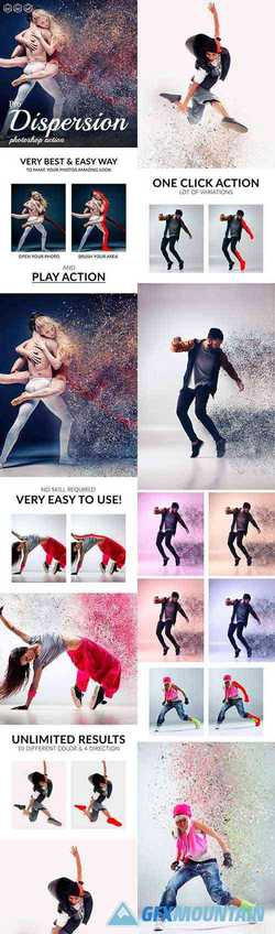 Pro Dispersion Photoshop Action 24634349