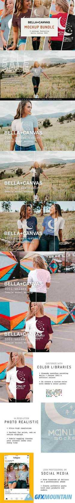 The Women's Bella Canvas 3001 Bundle 4081392