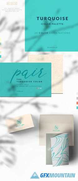 Turquoise Color Palette Collection 1791354