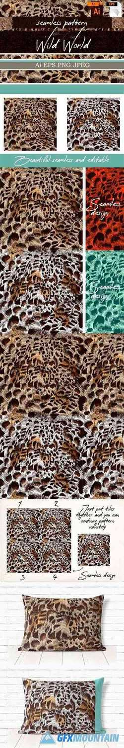 Seamless Vector Leopard Pattern Design 1786676