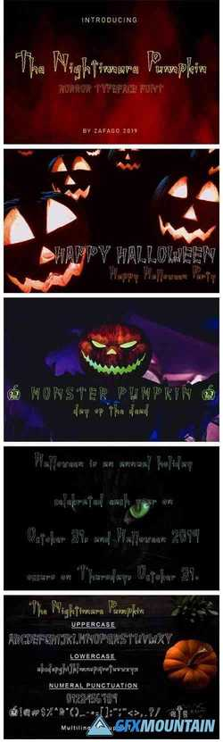 Nightimare Pumpkin Font