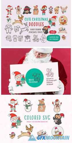 Cute Christmas Doodles Font