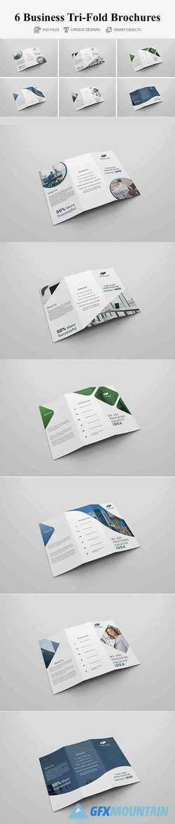 6 Business Tri-fold Brochures 4160617