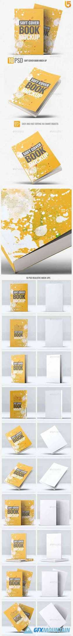 Soft Cover Square Book Mock-Up 24858039