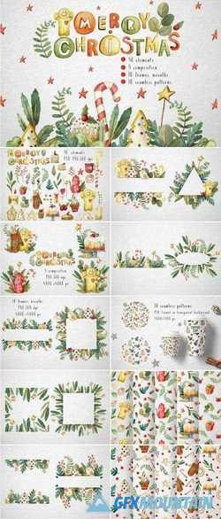 SWEET CHRISTMAS WATERCOLOR SET - 4207348