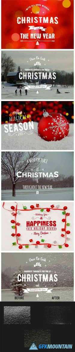 Christmas Photo Overlays & Textures SVG 1978129