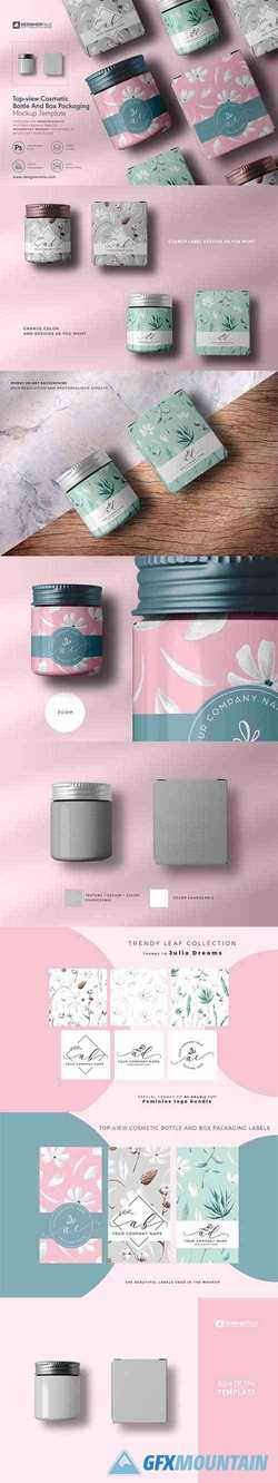 Cosmetic Bottle And Box Mockup 4130807
