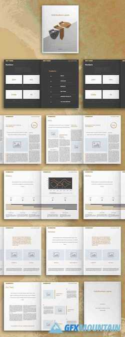 Gold Business Brochure Layout