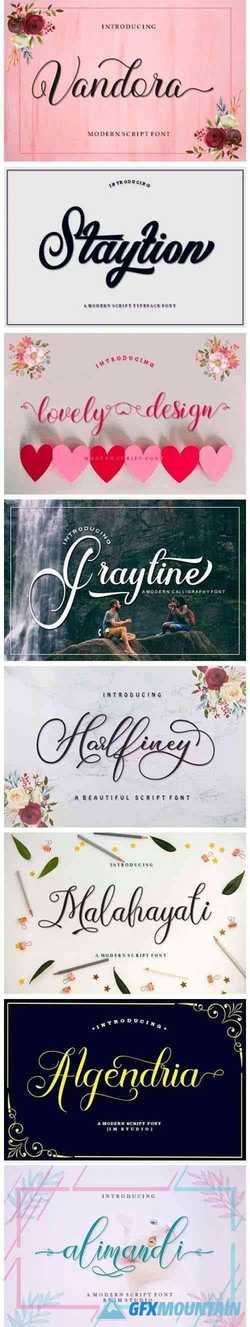 8 Lovely Script Fonts