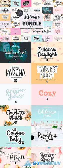 ULTIMATE OTF FONT BUNDLE - 45 FONTS 4310717